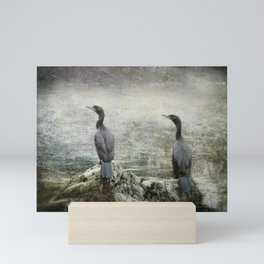 Two Cormorants Mini Art Print