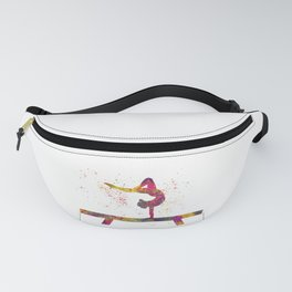 Rhythmic gymnastics competition in watercolor 05 Fanny Pack