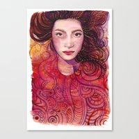 witch Canvas Prints featuring WITCH by Verismaya