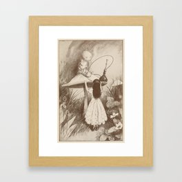 Alice in Wonderland With the Caterpillar Framed Art Print