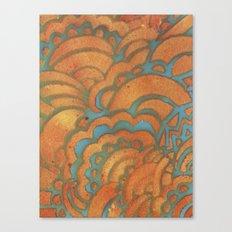 Drawing Meditation Stencil 1 - Print 8 Canvas Print