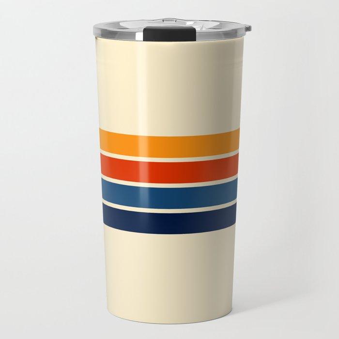 Classic Retro Stripes Travel Mug