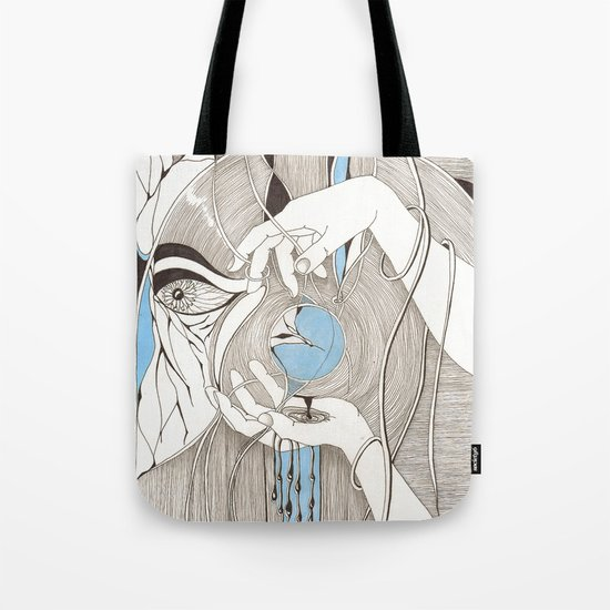 Small blue thing Tote Bag