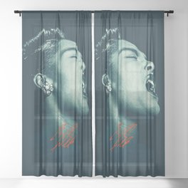Billie / The great Billie Holiday Sheer Curtain