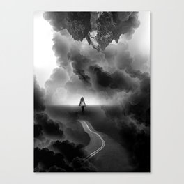 Call me Home a Black and White Collage Canvas Print