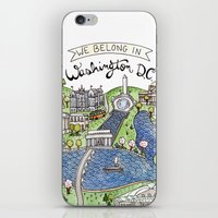 washington dc iPhone & iPod Skins featuring Washington DC by Brooke Weeber