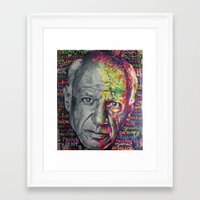 picasso Framed Art Prints featuring Picasso by Makelismos