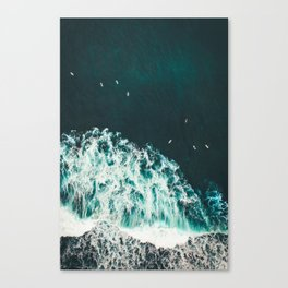 WAVES - OCEAN - SEA - WATER - COAST - PHOTOGRAPHY Canvas Print