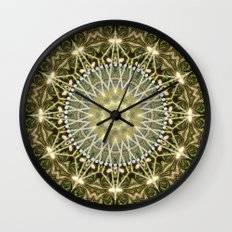 Geometric Forest Mandala Wall Clock