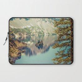 Crater Lake Oregon Phantom Ship Island Laptop Sleeve