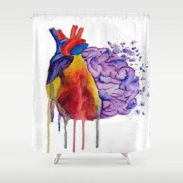 Heart vs. Mind Shower Curtain