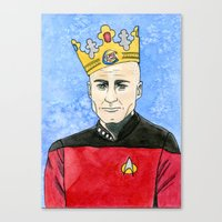 picard Canvas Prints featuring Captain Picard Print by Wine Lips