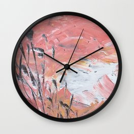 Dancing Sea Grass Sunrise Wall Clock