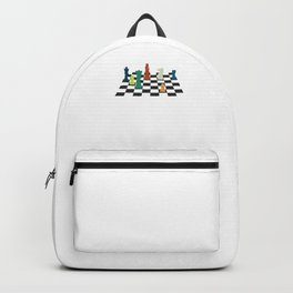 Chess Rook Pawn Bishop King Queen Chessboard Backpack