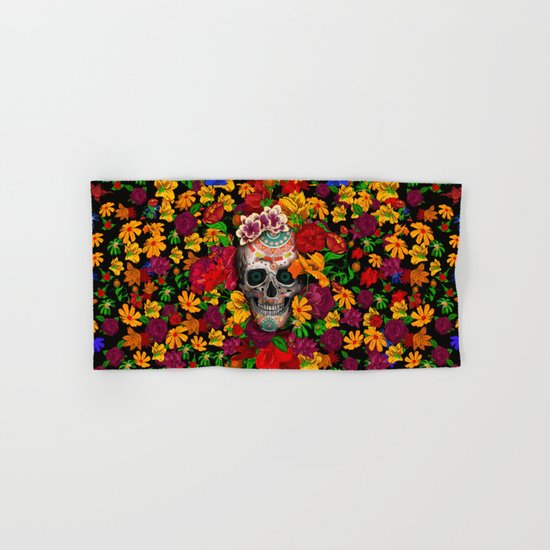 Day of the dead sugar skull flower iPhone 4 4s 5 5c 6, ipod, ipad, pillow case Hand & Bath Towel