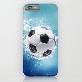Soccer Water Splash iPhone Case