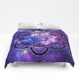 Mandala : Purple Blue Galaxy Comforters