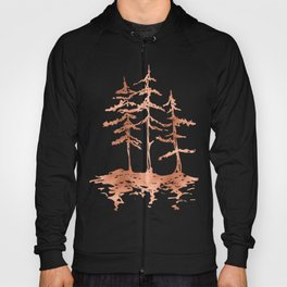Three Sisters Trees Rose Gold on White Hoody
