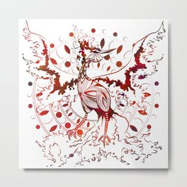 Fire Bird - Red Metal Print