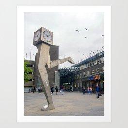 The Clyde clock, Glasgow Art Print