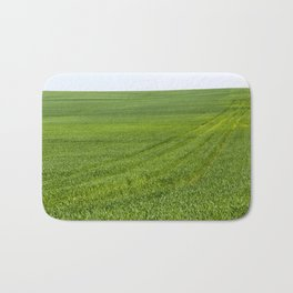 green sprouts of cereals Bath Mat