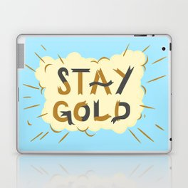 Stay Gold Print Laptop & iPad Skin
