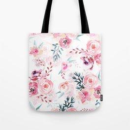 Pink Watercolor Florals I Tote Bag