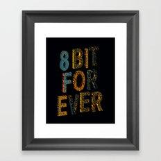 8 bit for ever Framed Art Print