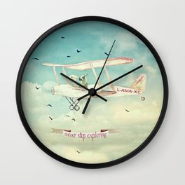 ALPACAS EXPLORING III - THE SKY Wall Clock