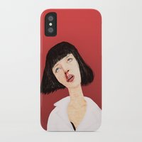 mia wallace iPhone & iPod Cases featuring Mrs Mia Wallace by Dobleu
