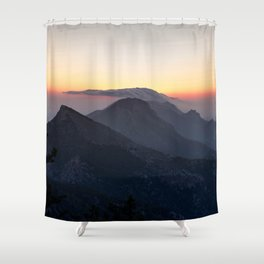 Mountain Sunset Wanderlust Shower Curtain