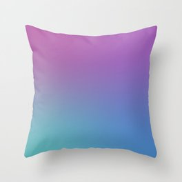 SUPERSTITION FUTURE - Minimal Plain Soft Mood Color Blend Prints Throw Pillow