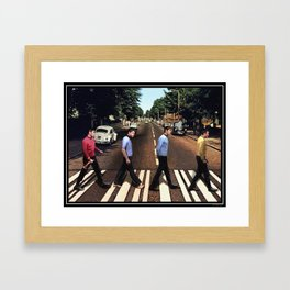 Boldly going on Abbey Road Framed Art Print