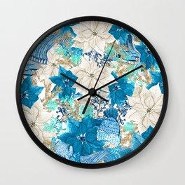 Blue Winter Wall Clock