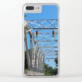 North 6th Street Bridge Clear iPhone Case