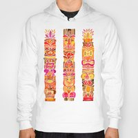 tiki Hoodies featuring Tiki Totems – Fiery Palette by Cat Coquillette