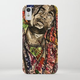 La flame,music,hiphop,poster,astro world,tour,wall art,artwork,painting,colourful iPhone Case