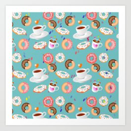Coffee and Doughnuts Art Print