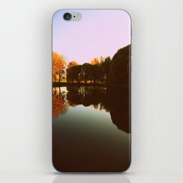 trees reflections iPhone Skin
