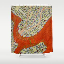 cypher number 13 (ORIGINAL SOLD). Shower Curtain