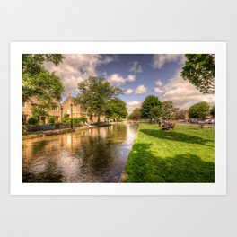 Bourton on the water Art Print
