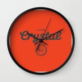 Lake Crystal Wall Clock