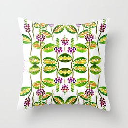 Floral vines Throw Pillow