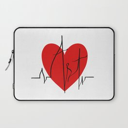 Art lovers illustration/ Hand drawn lettering, Artist's heartbeat monitor Laptop Sleeve