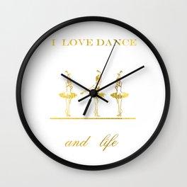 i love dance 2 Wall Clock