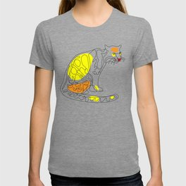 Indochinese Clouded Leopard - One Line Cat T-shirt