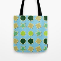 stickers Tote Bags featuring Shapes stickers by laly_sb