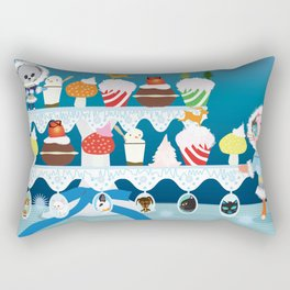 Christmas with Fashionista cats. Rectangular Pillow