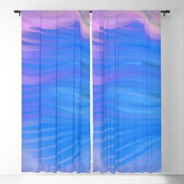 Moody Blue Melody Blackout Curtain