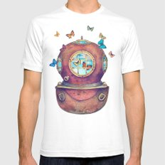 Inner Space White Mens Fitted Tee SMALL